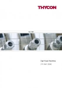 High Power Rectifiers - Thycon Pty., Ltd