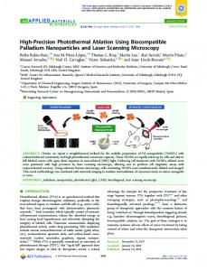 High-Precision Photothermal Ablation Using ... - ACS Publications