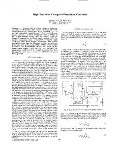 High Precision Voltage-to-Frequency Converter