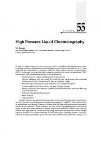 High Pressure Liquid Chromatography