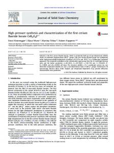 High-pressure synthesis and characterization of the