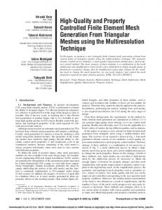 High-Quality and Property Controlled Finite Element Mesh Generation ...