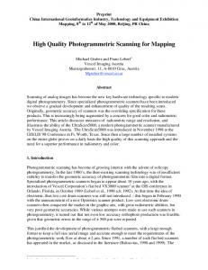 High Quality Photogrammetric Scanning for Mapping - National ...