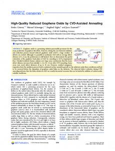 High-Quality Reduced Graphene Oxide by CVD ... - ACS Publications