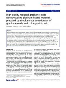 High-quality reduced graphene oxide-nanocrystalline ... - ScienceOpen