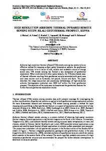 high resolution airborne thermal infrared remote ...