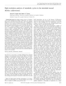 High-resolution analysis of metabolic cycles in the intertidal mussel ...