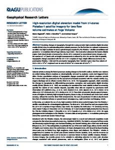 High-resolution digital elevation model from tri ... - Wiley Online Library