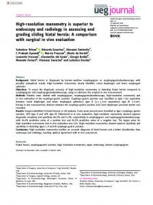 High-resolution manometry is superior to endoscopy ... - SAGE Journals