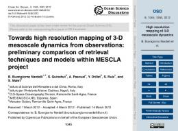 High resolution mapping of 3-D mesoscale dynamics
