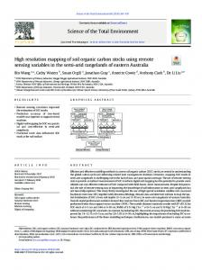 High resolution mapping of soil organic carbon stocks ...