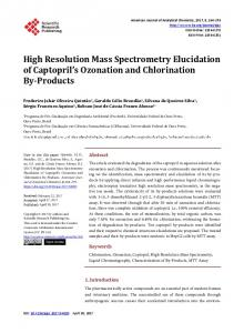 High Resolution Mass Spectrometry Elucidation of Captopril's
