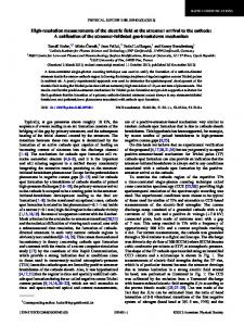 High-resolution measurements of the electric field ... - APS Link Manager