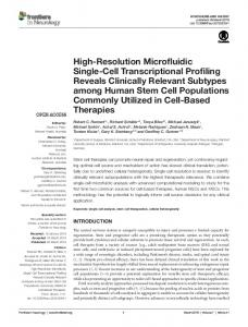 High-Resolution Microfluidic Single-Cell Transcriptional ... - Frontiers