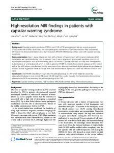 High-resolution MRI findings in patients with