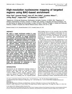 High-resolution nucleosome mapping of targeted regions using BAC ...
