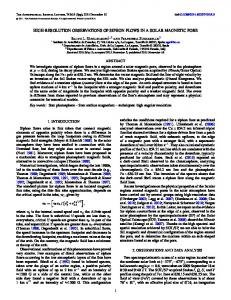 high-resolution observations of siphon flows in a solar ... - IOPscience