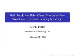 High Resolution Point Cloud Generation from Kinect ... - CSE@IIT Delhi