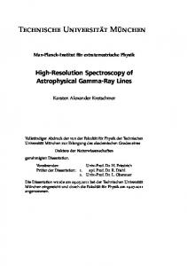 High-Resolution Spectroscopy of Astrophysical