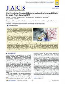 High Resolution Structural Characterization of ... - ACS Publications