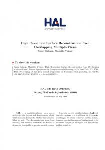 High Resolution Surface Reconstruction from Overlapping ... - Hal
