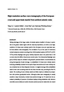 High-resolution surface wave tomography of the