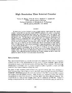High Resolution Time Interval Counter