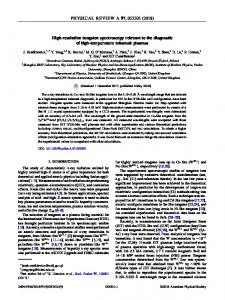 High-resolution tungsten spectroscopy relevant to the diagnostic of