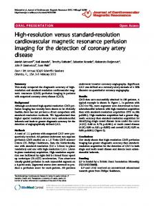 High-resolution versus standard-resolution cardiovascular magnetic ...