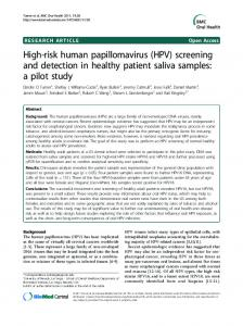 High-risk human papillomavirus (HPV)