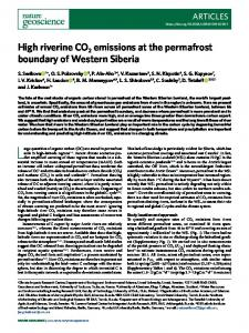 High riverine CO2 emissions at the permafrost