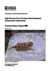 High-Severity Fire in Forests of the Southwest: Conservation Implications