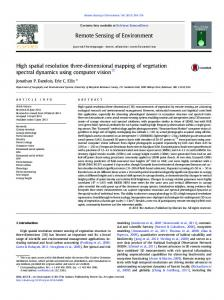 High spatial resolution three-dimensional mapping of vegetation ...