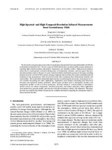 High-Spectral- and High-Temporal-Resolution Infrared ... - AMS Journals