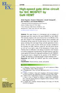 High-speed gate drive circuit for SiC MOSFET by GaN HEMT - J-Stage