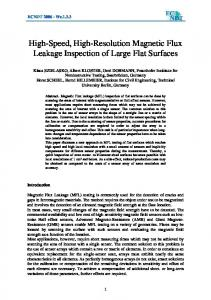 High-Speed, High-Resolution Magnetic Flux Leakage ... - CiteSeerX