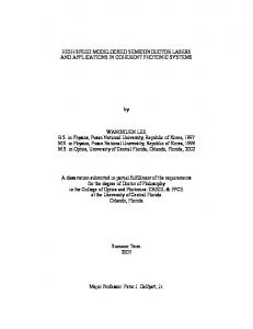 HIGH-SPEED MODELOCKED SEMICONDUCTOR LASERS AND ...
