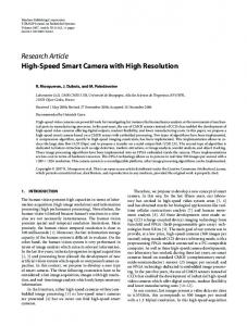 High-Speed Smart Camera with High Resolution - Semantic Scholar