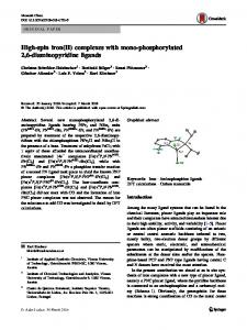 High-spin iron(II) complexes with mono