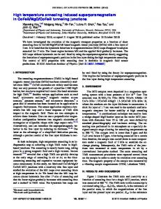 High temperature annealing induced superparamagnetism in CoFeB ...