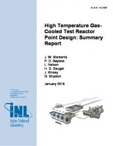 High Temperature Gas- Cooled Test Reactor Point Design: Summary ...