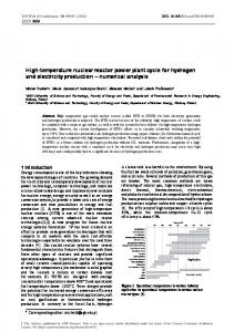 High-temperature nuclear reactor power plant cycle for hydrogen and ...