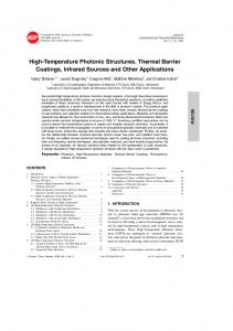 High-Temperature Photonic Structures. Thermal Barrier Coatings