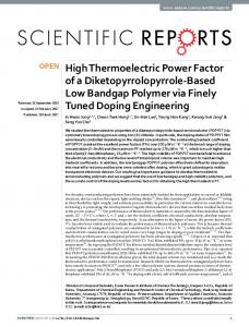 High Thermoelectric Power Factor of a