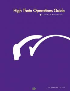 High Theta Operations Guide
