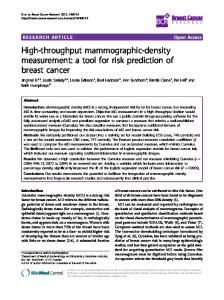 High-throughput mammographic-density measurement: a tool for risk ...