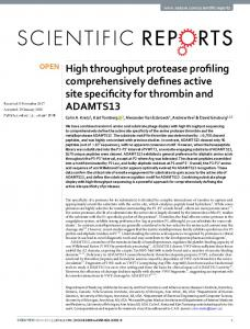 High throughput protease profiling comprehensively