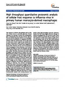 High throughput quantitative proteomic analysis of ...