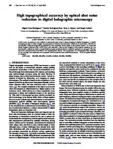 High topographical accuracy by optical shot noise ... - OSA Publishing