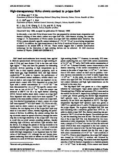 High-transparency Ni/Au ohmic contact to p-type ... - Semantic Scholar